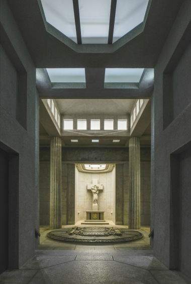 A view of the crypt of the HWK National Monument