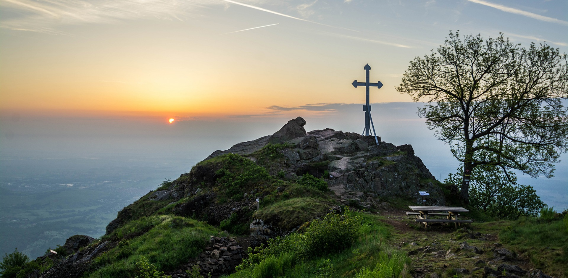 The Cross of the Haut-Rhin Volunteers on the Aussichtsfelsen summit