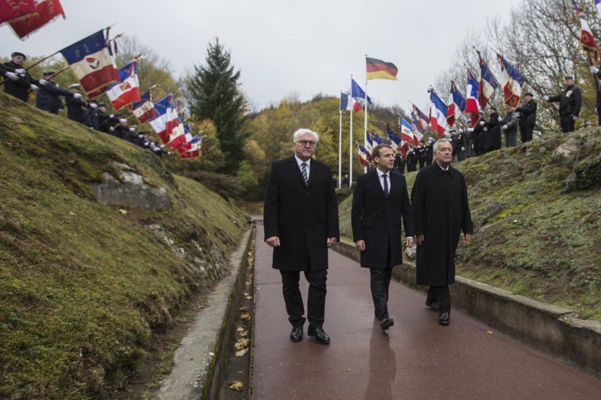 Cérémonie présidentielle franco-allemande de 2017 au HWK