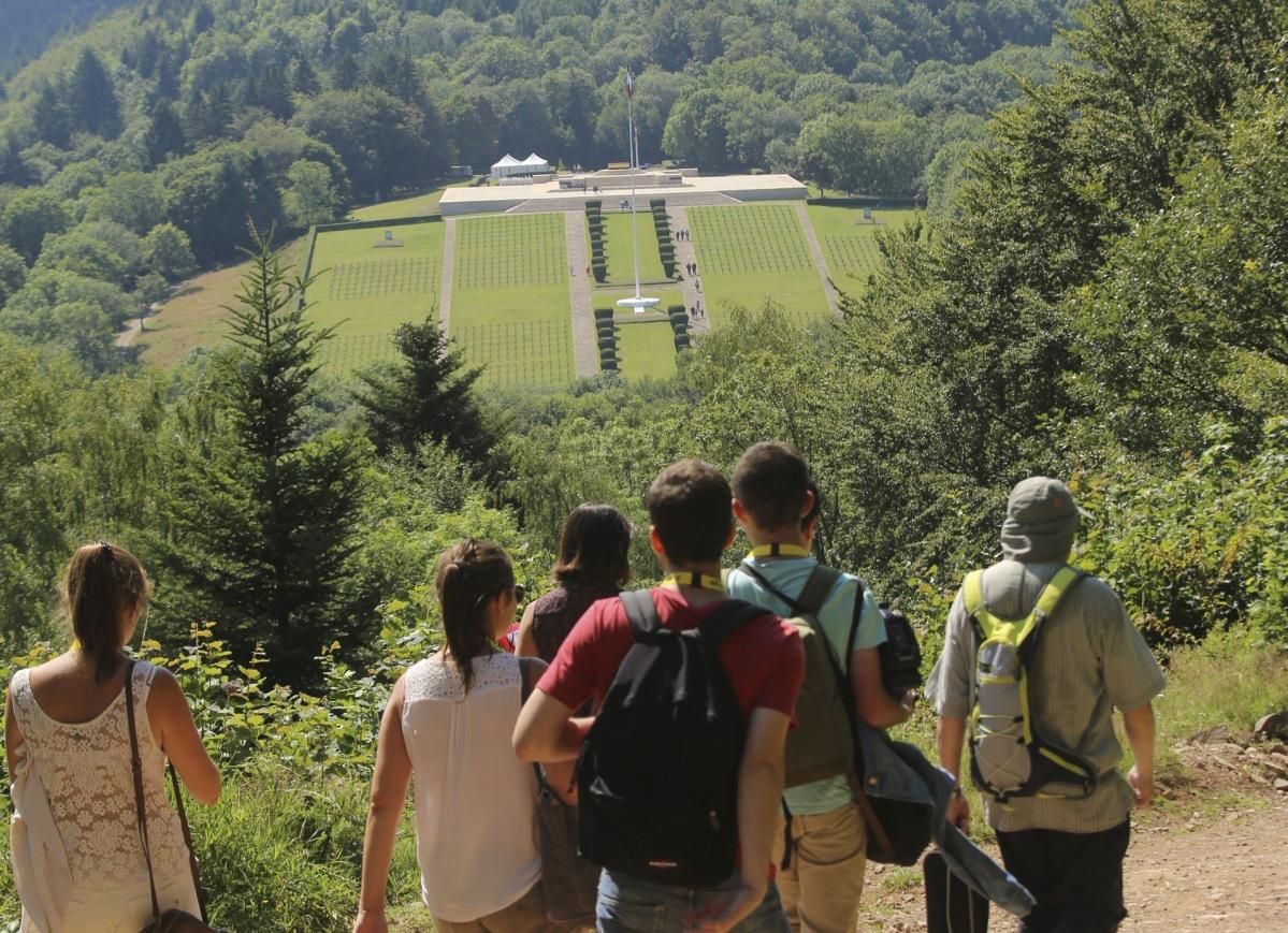 Visite guidée de l'ancien champ de bataille du Hartmannswillerkopf - Photo Jean-Marc Hédoin